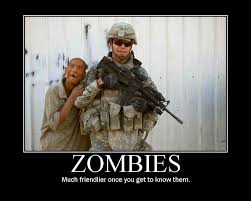 Funny Zombie Memes - zombies much friendlier once you get to know them captionsearch