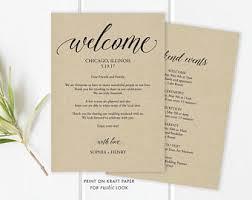 wedding day schedule etsy
