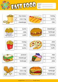 fast food esl printable worksheets for kids 2