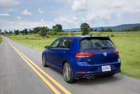 volkswagen golf blue vw golf r makes hatchbacks hard to resist