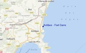map of antibes antibes fort carre surf forecast and surf reports mediterranean