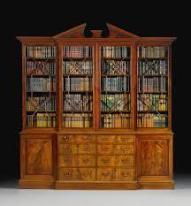 Mahogany Effect Bookcase A George Iii Mahogany Breakfront Library Bookcase Circa 1770