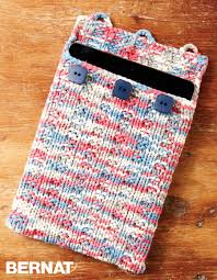 Knit Home Decor Bernat Undercover Knit Tablet Case Knit Pattern Yarnspirations
