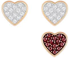 ear ring photo wishes heart pierced earring set multi colored gold