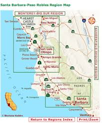 paso robles winery map monday santa barbara and paso robles wine country travel 8