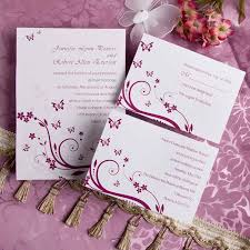 wedding program sles free purple butterfly wedding invitations with response cards
