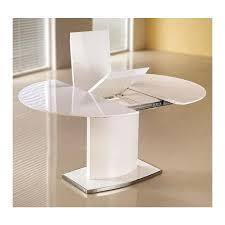 table ovale avec rallonge table a manger ovale extensible blanc laqué