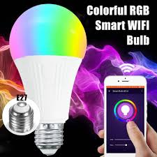 alexa controlled light bulbs e27 7w rgbw wifi app controlled led smart light bulb for echo alexa