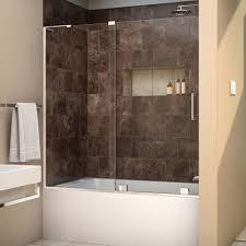 bathroom shower doors home depot new dreamline mirage x 56 in to