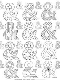 available now the ampersand coloring book for adults u2013 karen kavett