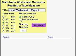 reading a tape measure worksheet generator youtube