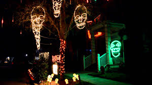 Halloween Home Decor Catalogs by Incredible Halloween Lights And Sound Outdoor Decorations Youtube