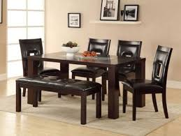 espresso rectangular dining table leon 6pcs casual modern espresso rectangular dining room table