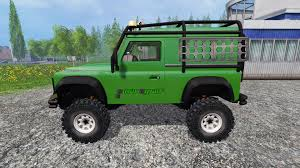 land rover defender 2015 rover defender 90 green for farming simulator 2015