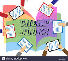 cheap books meaning low cost reading material stock photo royalty
