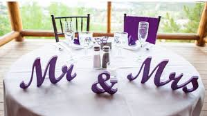 mr mrs wedding table decorations mr mrs wedding signs mr and mrs purple mr and mrs