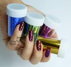 metallic dots manicure nail foil nail art lucy u0027s stash