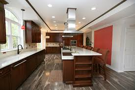 cherry kitchen cabinets and wood floors kitchen