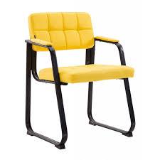 chaise visiteur bureau chaise visiteur fauteuil de bureau sans simili cuir jaune