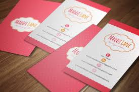 Business Card Invitation Girly Business Card Template Business Card Templates Creative
