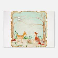 Animal Area Rugs Woodland Animals Rugs Woodland Animals Area Rugs Indoor Outdoor