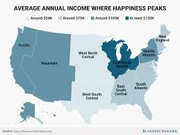 how much money you need to be happy varies depending on where you