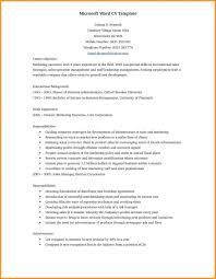 microsoft office 2007 resume template microsoft office word