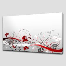 Home Decor Canvas Art Red Abstract Foliage Large Canvas Wall Art Picture Print Home