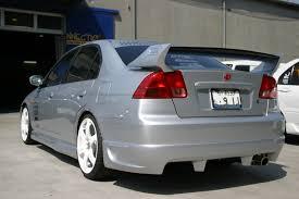 2003 honda civic ex parts k099740u 2001 2003 honda civic sedan rear skirt pur kaminari