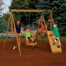 outdoor swing set with adventure playsets and backyard playset