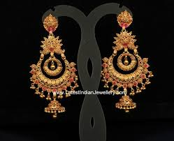 heavy diamond earrings earrings awesome gold earrings indian jewelry striking