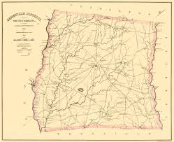 County Map Of North Carolina Old County Map Prints Maps Of The Past