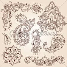 henna tattoo flower doodle vector illustration design ele gl