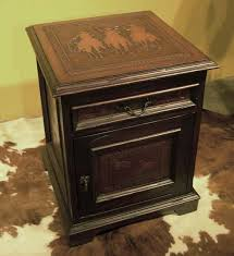 leather nightstand western bedroom furniture free shipping