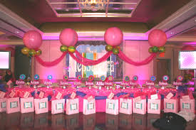 Dinner Party Entertainment Ideas Sweet Sixteen Decorations With Full Pink Shades As The Main Idea
