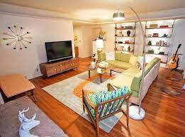 mid century modern arc floor l interior design inspiring mid century modern apartment living room