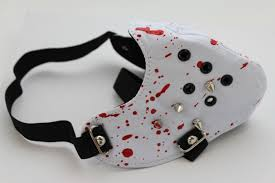 white faux leather hannibal blood spikes mouth muzzle s u0026m face
