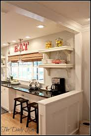 kitchen half wall ideas lightened up home reveal kitchens small open kitchens and divider