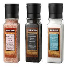 kirkland signature salt and pepper grinder set 3 pack