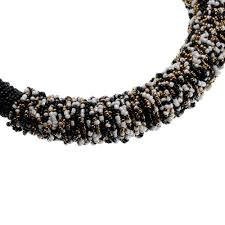 resin bead necklace images Resin bead necklace black and gold tribal necklace jpg