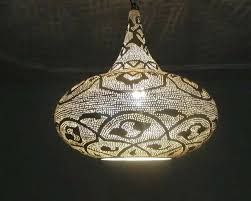 Moroccan Pendant Light Moroccan Pendant Lighting Handcrafted Silver Plated Brass Lighting
