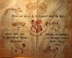 Harry Potter Marauders Map The Happenings Of An Absent Mind Harry Potter Party Invites