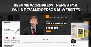 resume wordpress themes for online cv u0026 personal websites skt