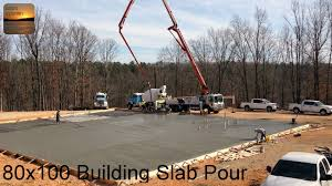 pouring a 80 x 100 metal building slab youtube
