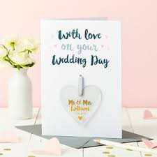 Greeting For Wedding Card Personalised Wedding Cards Notonthehighstreet Com
