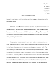 science fair report template science fair research paper tooth decay