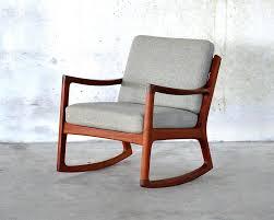 danish teak rocking chair mid century modern rocking chair design