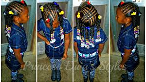 Little Girls Ponytail Hairstyles by Little Girls Hair Style Remix Braids Ponytails Beads