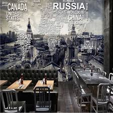popular wall mural map buy cheap wall mural map lots from china custom vintage world map wall mural photo wallpaper for restaurant cafe wall decor retro wall paper