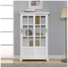 ameriwood furniture aaron lane bookcase with sliding glass doors